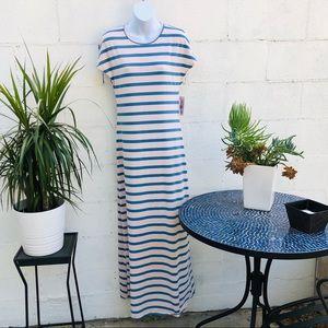 New NWT Lularoe XS stripe dress pink and blue